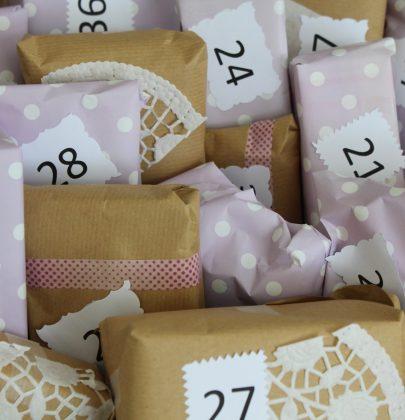 Babybauchkalender… jede Woche ein Päckchen bis zur Geburt